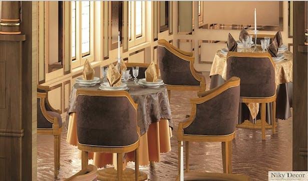 Restaurant interior design - Planting classic style restaurant