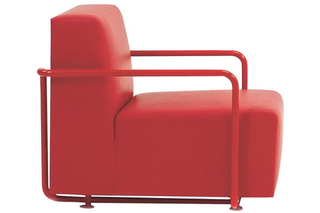 Reader Chair New York furniture maker Dune built 120 reading chairs designed by British architect David Chipperfield for his 2006 Des Moines Public Library. Dune has released the Reader chair in a customized choice of upholstery starting at $3,925, with an accompanying ottoman starting at $1,200.