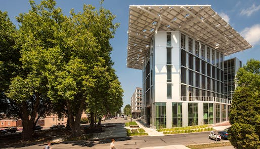 Seattle's super-green Bullitt Center is the largest of the world's 11 projects that are Living Building-certified. Though blessed with plenty of Southern California sunshine to achieve net-zero energy, the proposed Santa Monica building has to overcome issues of severe drought and the state's arid climate to also reach net-zero water. (Image via bullittcenter.org)