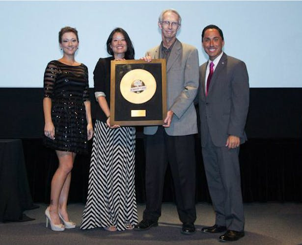 """NSAD faculty and alumni part of Davy Architecture team recognized for """"Project of the Year-Public."""" Photo with San Diego's Interim Mayor Todd Gloria (right). Credit: Mike Torrey Photography."""