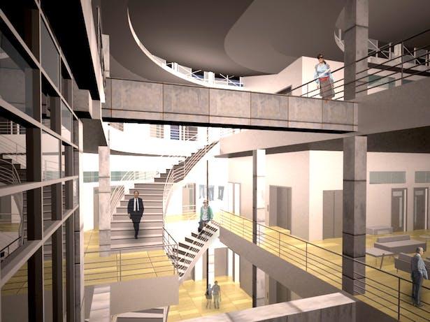 3 Story Atrium Space