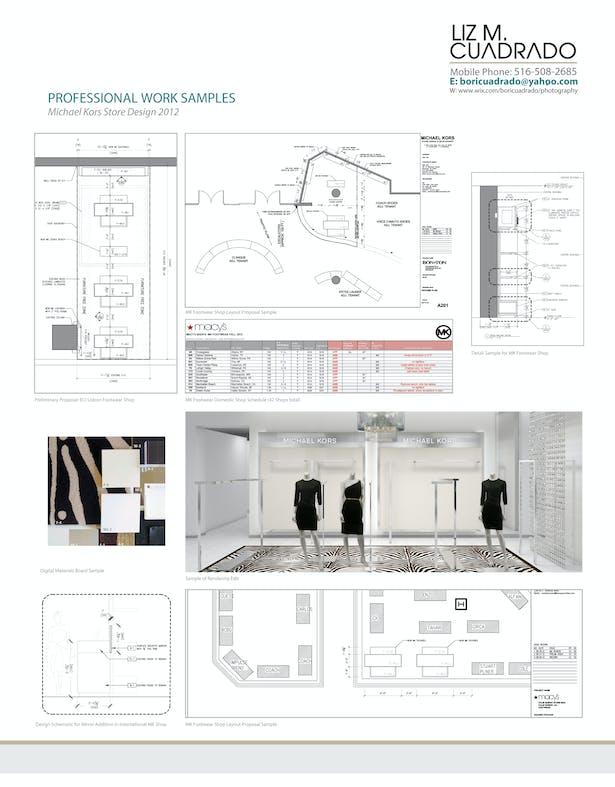 Store Design Internship Work Sample Page