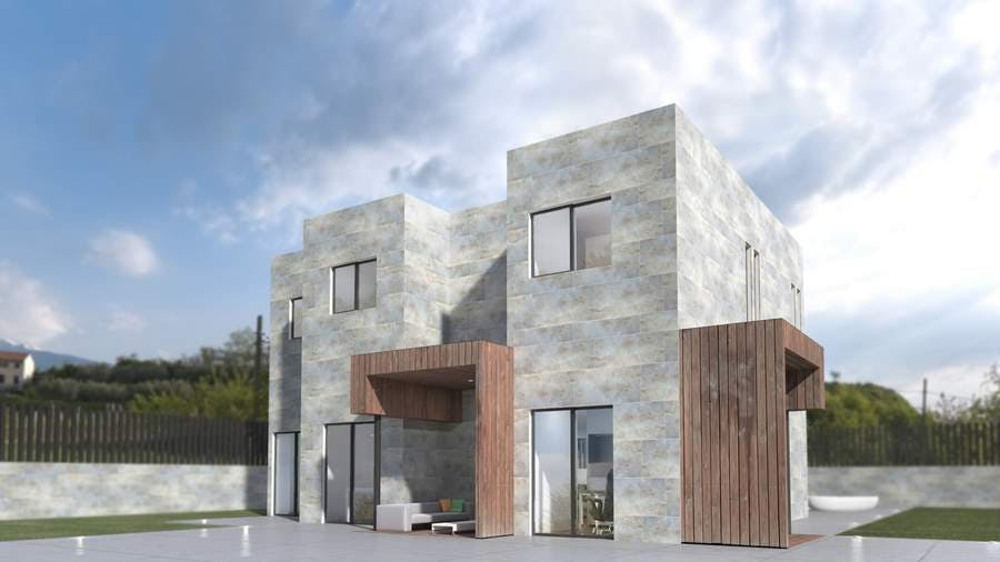 Casas modernas prefabricadas modelo 5c miguel martinez for Casas prefabricadas modernas
