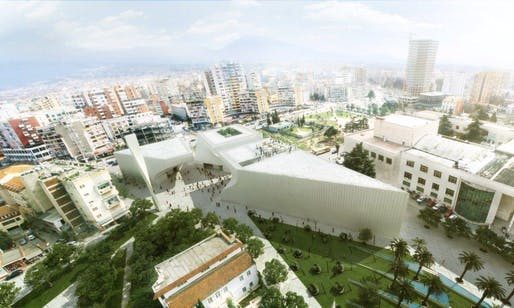 Competition-winning design for the new Tirana Mosque, Islamic Center, and Museum of Religious Harmony