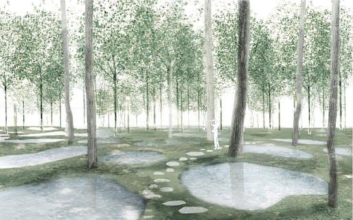 Perspective view of Art Bio Farm. ©junya.ishigami+associates