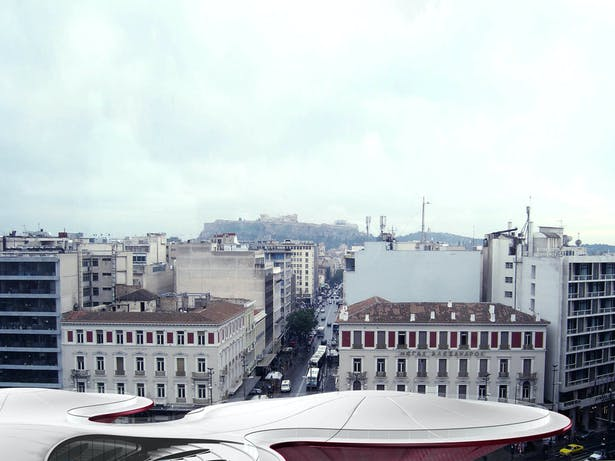 Room Service hotel by Panos Nikolaidis & Errica Protestou, view from nearby building