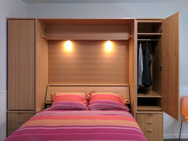Custom fold-out wall bed
