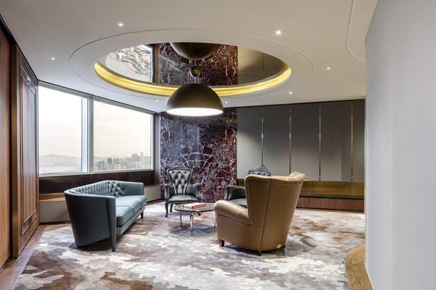 VMS Investment Group Headquarters, Hong Kong, by Aedas Interiors - VIP Room