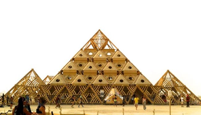 The temple made entirely of wood