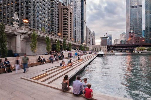 Chicago Riverwalk Expansion by Sasaki Associates. Shortlisted in the Project category.