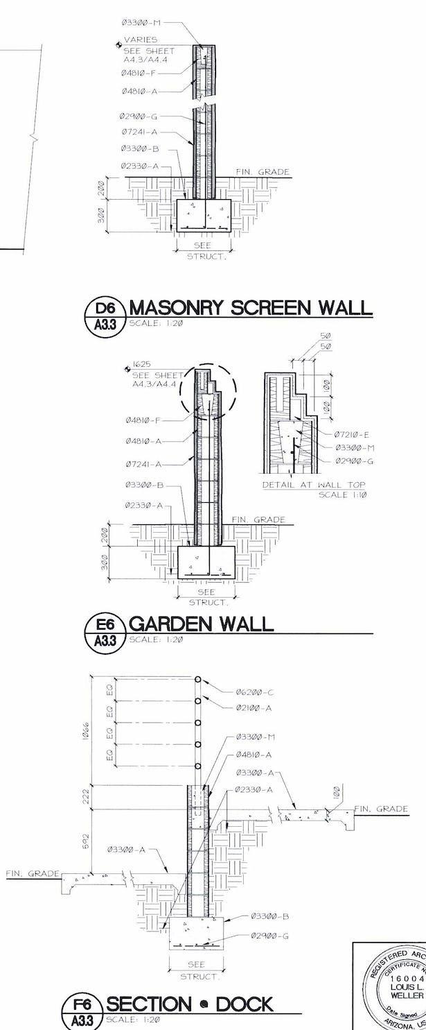 Masonry Wall Details