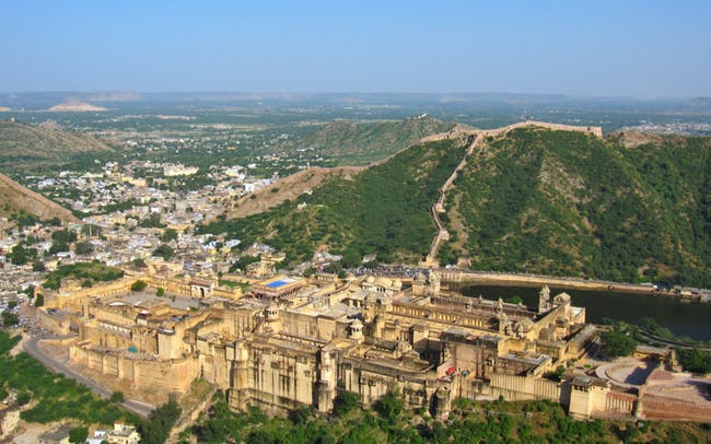 Amber Fort from her guardian, Jaigarh Fort