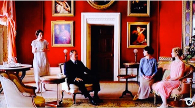 The Downtown Abbey roomed that served as inspiration for Schock's office. Credit: PBS via Gawker