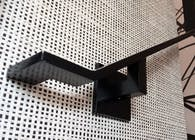 Custom Black Powder-Coat Flat Bar Handrail