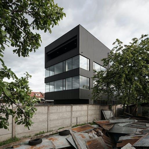 Felipe Fontecilla, photographer, Chilean, b. 1981, UMWELT, architects, Chilean, est. 2011; Seismic Dom-ino, Osorno, Chile