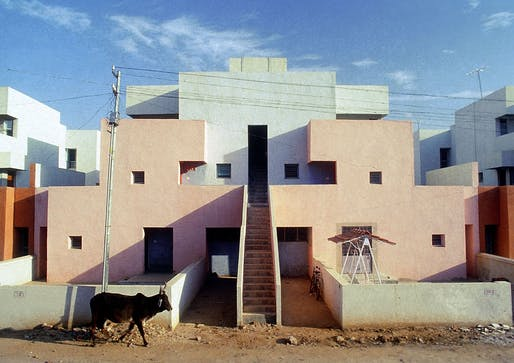 Residence in its original configuration before residents moved in: »Housing for Life Insurance Corporation« (LIC), Ahmedabad, 1973 © Vastushilpa Foundation, Ahmedabad