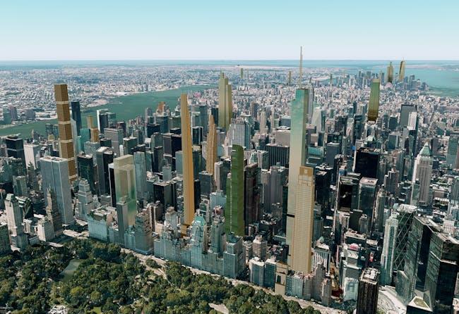 Manhattan's New Billionaire Skyline. Image via cityrealty_nyc's Flickr
