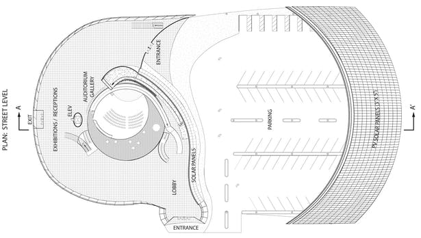 Solar Spiral, Plan: Street Level