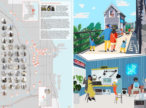 ​RUNNER UP: COMMUNITY AMPLIFIED STATIONS by Mejay Gula, Nick Wylie. Image courtesy Chicago Architectural Club.