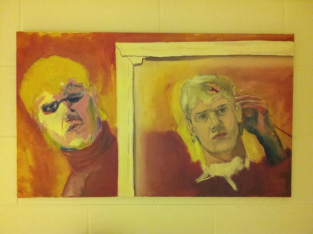 Self Portrait, Oil on Canvas