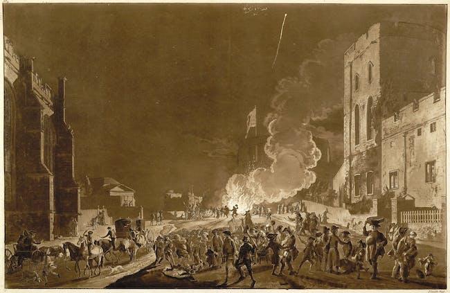Festivities in Windsor Castle by Paul Sandby, c. 1776 (photo via Wikipedia)