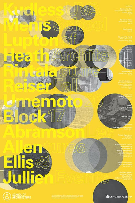 Poster courtesy of University of Virginia, School of Architecture.