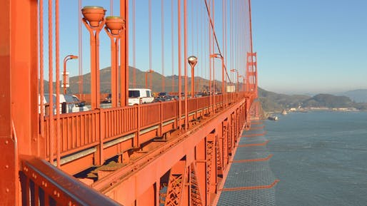 Rendering of the bridge with safety nets. Image: Golden Gate Bridge
