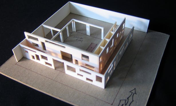 Study Model 3   materials: museum board and chipboard base