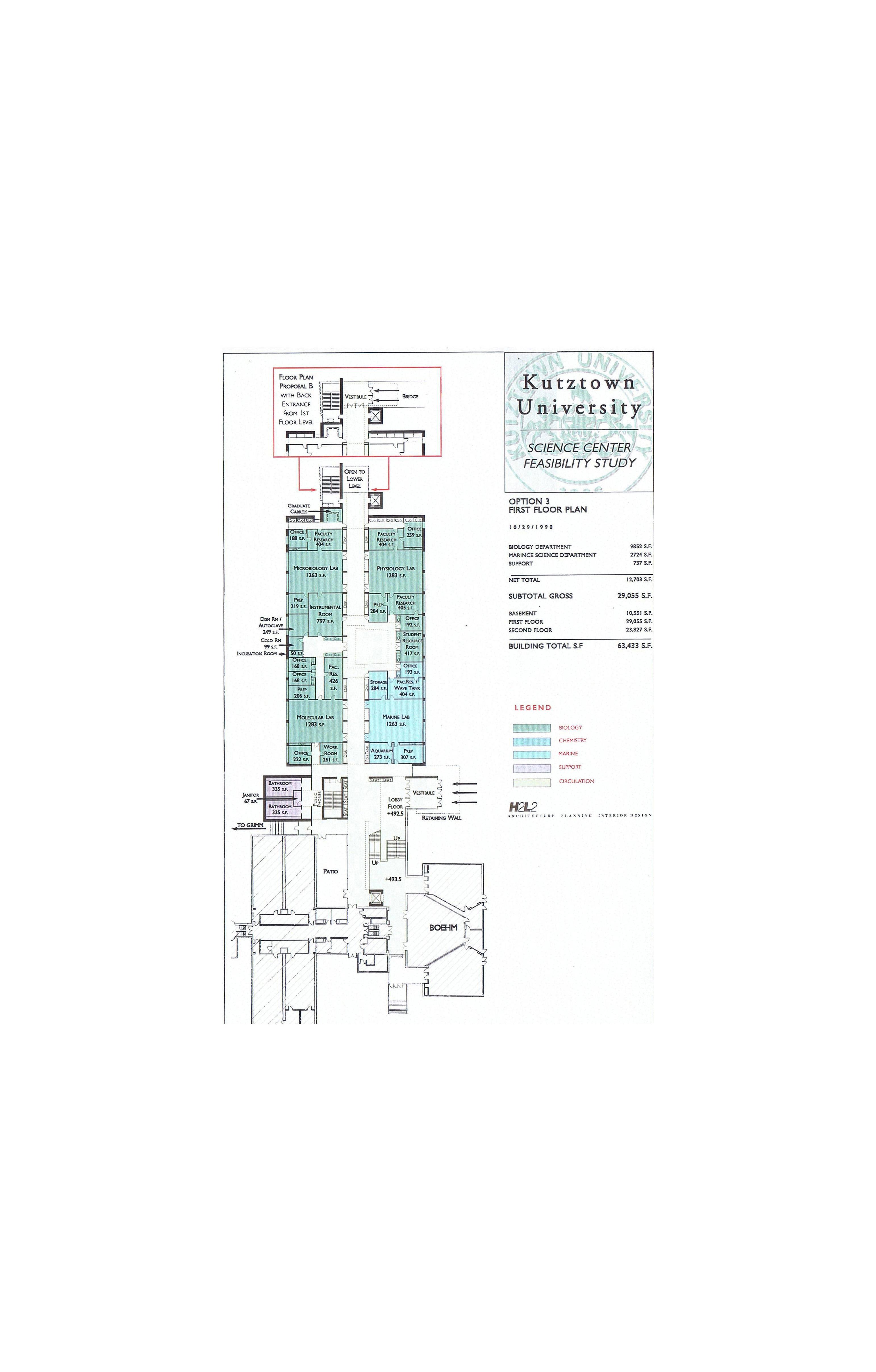 H2L2,(Feasibility Study) Kutztown University, Science