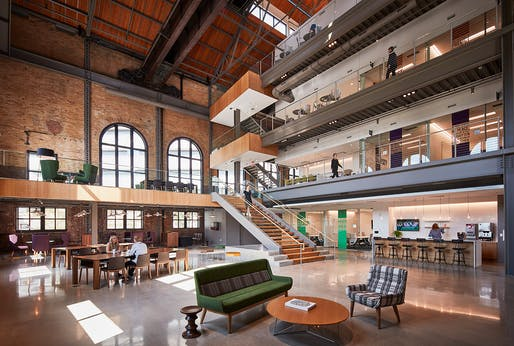 ProMedica Corporate Headquarters. Architect: HKS, Inc, Chicago. Structural Engineer: HKS, Inc., Dallas. Photo: Tom Harris — TH Photography.