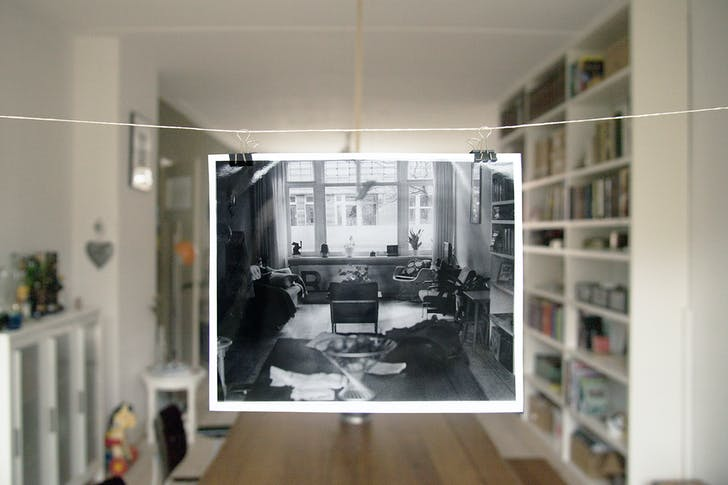Photo and setting from 'Interior Portraits', via Piet Zwart Institute.