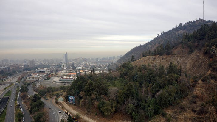 The view of Santiago from Radić's studio. Credit: Nicholas Korody