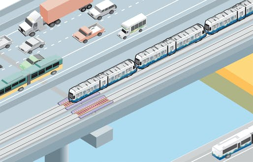 Construction of the world's first light rail on a floating bridge to start