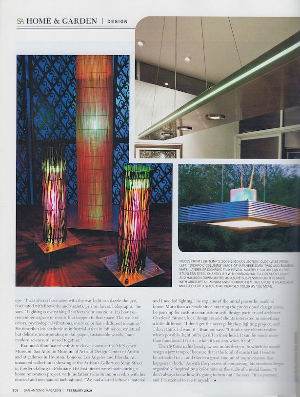 Light + Sound - San Antonio Magazine - Feb 2010