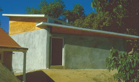 from back in the day . . . (the straw bale house)