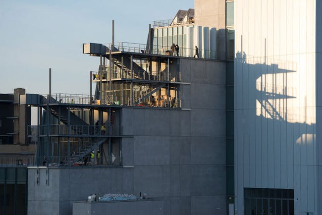 Exterior staircases during construction in Dec. 2014. Credit: Credit: Timothy Schenck via the Whitney Museum of American Art