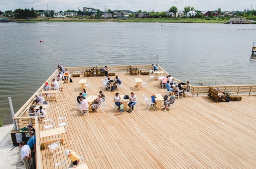 Terrace at the beach, Almetyevsk, Public Spaces Development Programme, various locations, Tatarstan, Russian Federation. Photo: Daniel Shvedov.