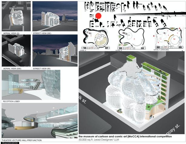 the museum of cartoon and comic art [MoCCA] international competition 50,000 sq.ft. Lead Designer/ LLM