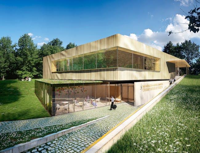 Vladimir Radutny Architects - Toledo Chabad Center in Toledo, Ohio.