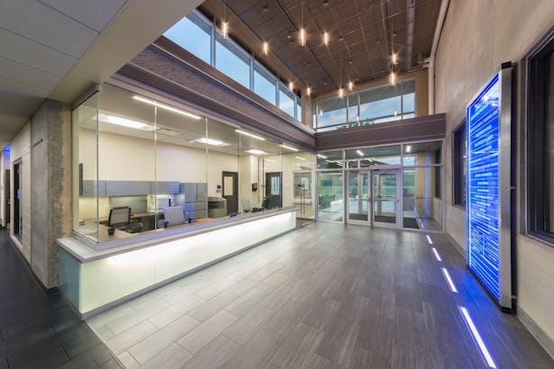 Lobby View: The John C. Dunham STEM Partnership School, Cordogan Clark & Associates