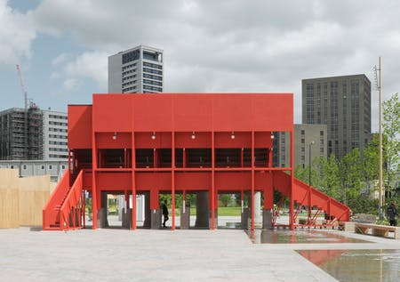 The Red Pavilion by TAKA, Clancy Moore and Steve Larkin