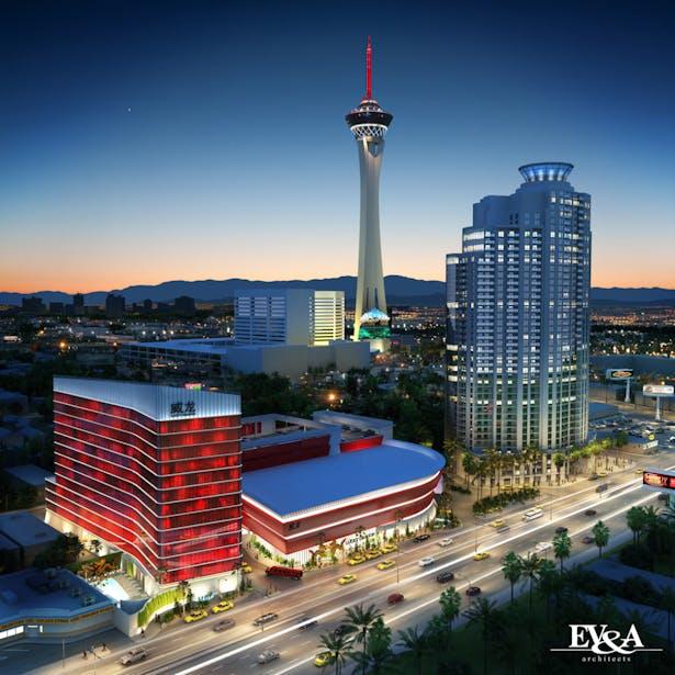 Hotel + Casino Aerial Perspective
