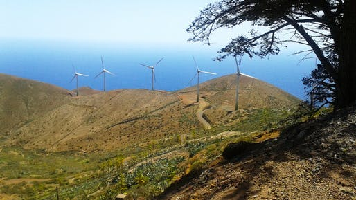 Wind turbines of El Hierro on the Canary Islands. Credit: Lauren Frayer for NPR