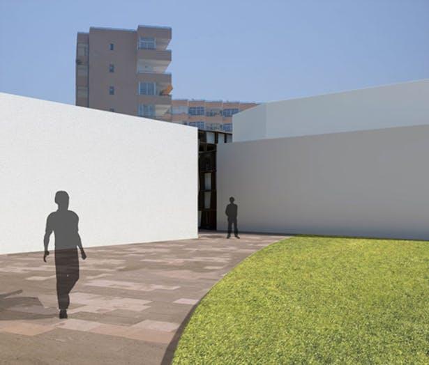 Entrance to interior courtyard