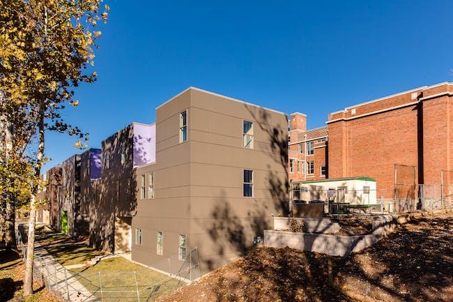 Rear exterior, Bancroft School project. Photo credit Chad Jackson Photography.