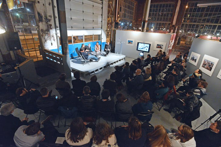 Faculty conversation at the Liberty Annex. Image courtesy of the University of Michigan.