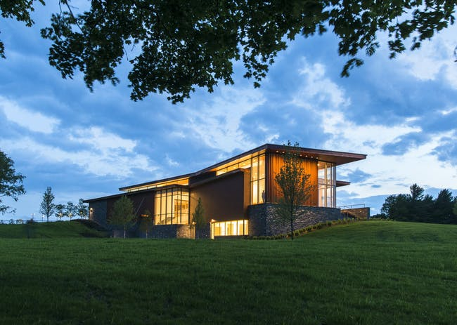 Center for Art and Education, Shelburne Museum by Ann Beha Architects. Photo by Peter Vanderwarker.