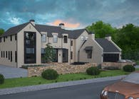 3D exterior Rendering of a Residential Home