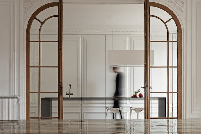 Invisible Kitchen in Paris, France by i29 interior architects