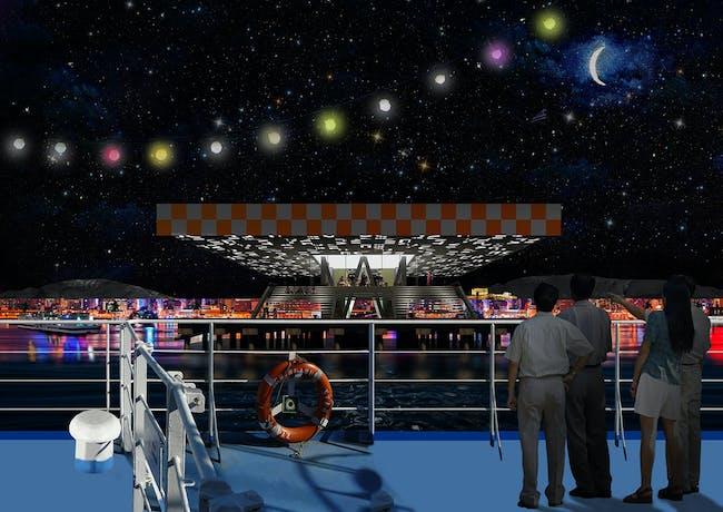 Night boat (Image: Point Supreme Architects)